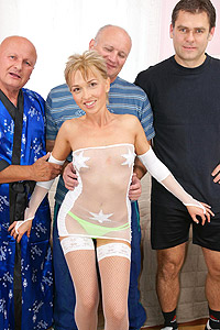 old and young gangbang 6